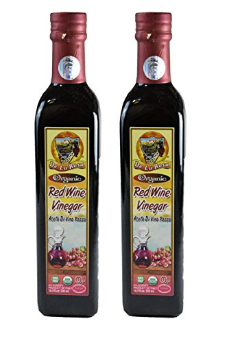 De La Rosa Real Foods & Vineyards - Organic Italian Red Wine Vinegar (16.9 oz/500 ml) TWIN PACK