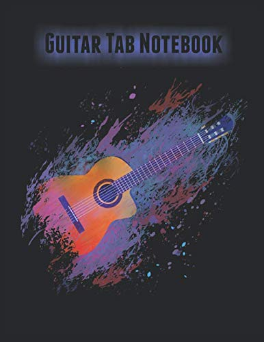 Guitar Tab Notebook: Blank Guitar Tablature Music Manuscript Book With Chord Diagrams, 8.5