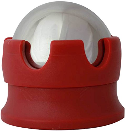 Massage Ball Hot Cold Roller Ball - Relieve Muscle Pain Fast - Stainless Steel Gel Balls for Heat or Ice Therapy- Foot, Back, Shoulder Massager - Myofascial Release - Deep Tissue Trigger Points - Red