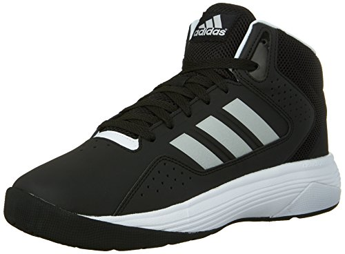 adidas NEO Men's Cloudfoam Ilation Mid Basketball Shoe,Black/Metallic Silver/White,7.5 M US