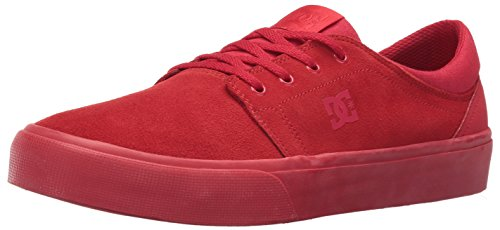DC Men's Trase Sd Skateboarding Shoe, Red, 7 M US