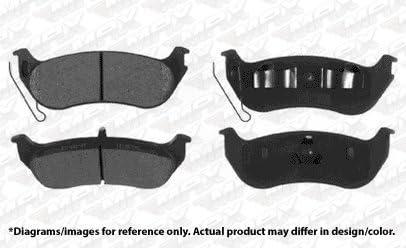 Max Brakes Rear Supreme Brake Kit Fits: 2007 07 2008 08 Ford Explorer Sport Trac Models KM072842 OE Series Rotors + Ceramic Pads