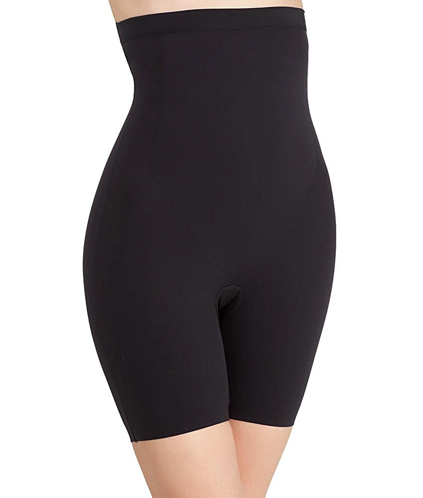 a973d4efaefb6 Assets RHL by Spanx Clever Controllers High-Waist Mid-Thigh Shorts Black  Large UK 16-18  Amazon.co.uk  Clothing