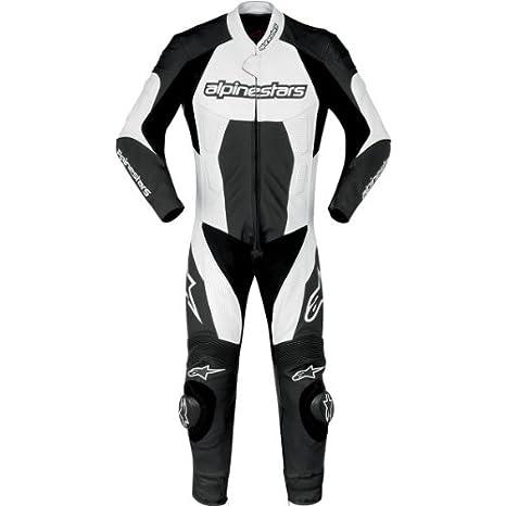 Amazon.com: Alpinestars Carver One Piece Suit de piel negro ...