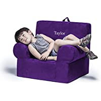 Jaxx Julep Personalized Kids Chair - With Custom Embroidery, Grape