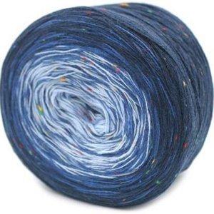 Trendsetter Transitions Tweed 49 Midnight/Demim/Sky Blue (Midnight Blue Knitting Yarn)