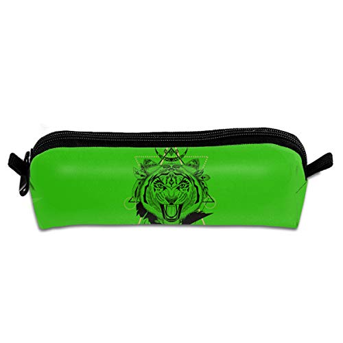 Pen Pencil Fiercely Tiger Head Zipper Pen Bag Cosmetics Receive Bag Stationery Pouch Bag