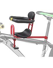 Barncykelsadel cykelmonterad, säkert frammontering barncykelstol med armstöd och hopfällbar pedal, avtagbart barncykelsäte, max 50 kg, för barn från 0-6 år