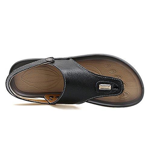 Sandali di svago di uso doppio di modo degli uomini di tendenza dei sandali di estate ansimano i sandali di svago, il nero, UK = 9, EU = 43
