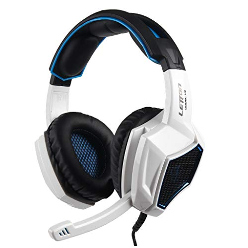 BIYATE Gaming Headset for PS4, PC, Xbox One, Stereo Headphones for Laptop, Mac, Nintendo Switch with 7.1 Surround Sound, HI-FI Noise Cancelling Mic, Breathing Ear Pads, Volume Control