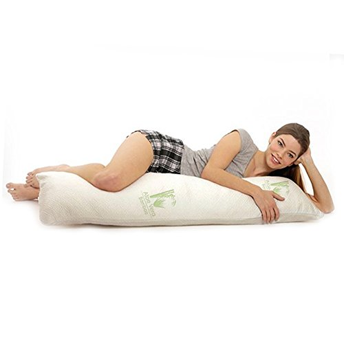 Pillow Support Body Comfort U (Aloe 99 Hypoallergenic Aloe Vera Bamboo Memory Foam Full Body Pillow for Adults)