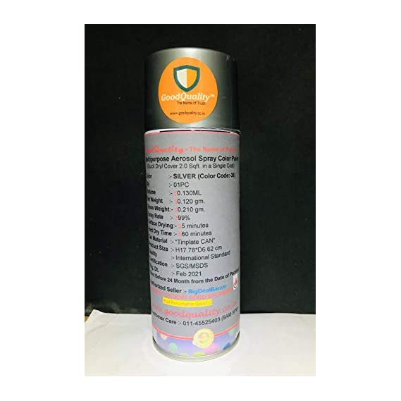 f22 F1 Aerosol Multi Purpose Silver Spray Paint