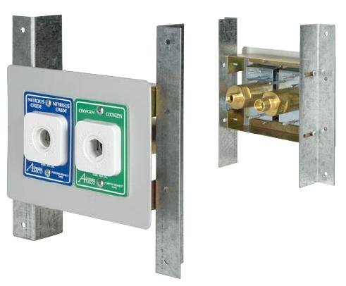 Double Outlet Concealed Cabinet Mount 6600-DX-PN
