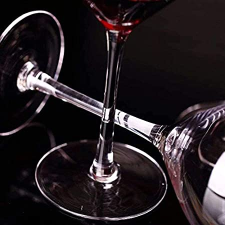 21 oz 400ml Cristal Copas de Vino Borgoña Copas de Vino Set de Regalo Caja Fuerte del lavaplatos HMLIFE (Size : Set of 4)