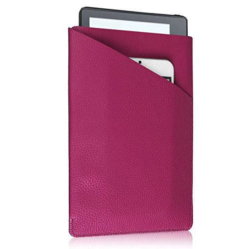 Photo - Pouch Sleeve Case for 7'' Inch/ 8'' Inch Tablet ,Arroker Solid Leather Carrying Bag for Kindle Fire 7''/8'', iPad Mini 1/2/3/4,LG G pad 8,Fit Tablet / Pad / E-book Display 7'' / 8''inch (Purple)
