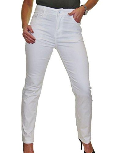 Cintura Jeans Blanco Alta 38 Con Tela Para 52 Mujeres Brillo OppZqwEx6