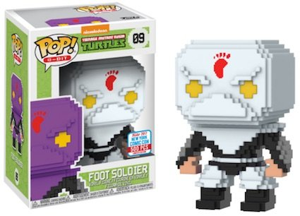 2017 NYCC Exclusive Pop! - 8-Bit: TMNT Foot Soldier (White) with NYCC Sticker ()