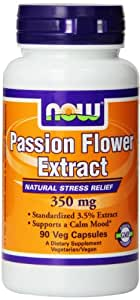 Now Foods Passion Flower Extract , 350 mg,  90 Vcaps,