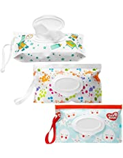 Wipes Dispenser,3 PCS Baby Wipes Dispenser,ReusableCute Wipes Pouch,Refillable Wet Wipes Container Wipes Dispenser For Baby