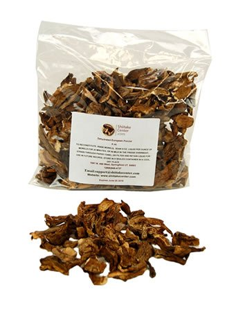 Dried European Porcini Mushrooms - 4 Oz. Bag - Dehydrated Edible Gourmet Boletus Edulis Fungi - Imported by Shiitake Center