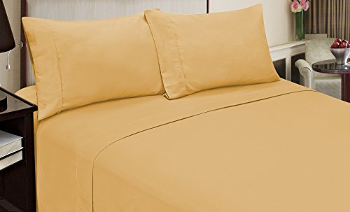 Home Dynamix Jill Morgan Fashion 4 Piece Solid Straw Sheet Set, King
