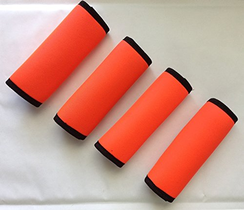 set-of-4-bright-neon-orange-luggage-spotter-super-grabber-soft-comfort-neoprene-handle-wraps-grip-lu