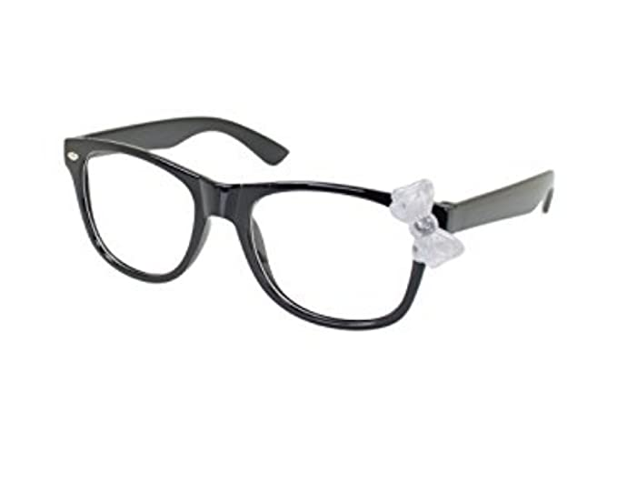 66dc2b4d7c Kids Children Baby Kitty Cat Bow Clear Lens Cute Glasses Sunglasses-15  Colors (Black