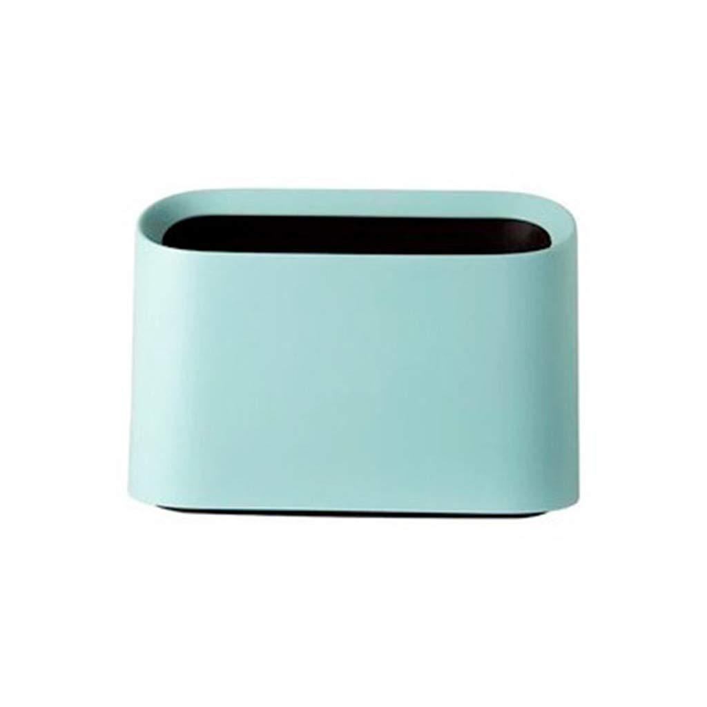 Desktop Trash Can,SuperUS Modern Oval Shatter-Resistant Plastic Small Trash Can Wastebasket