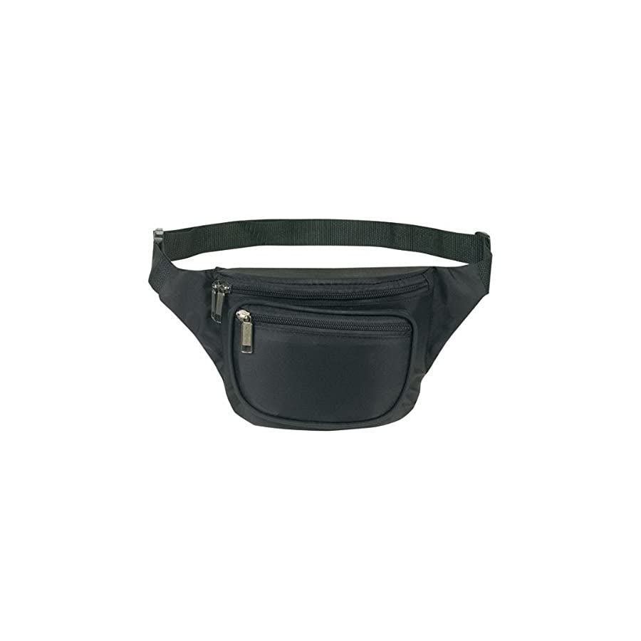 Yens Fantasybag 3 Zipper Fanny Pack Sports, Running and Fitness Expandable Weather Resistant Waist, FN 03