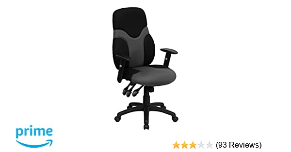amazon com flash furniture high back ergonomic black and gray mesh