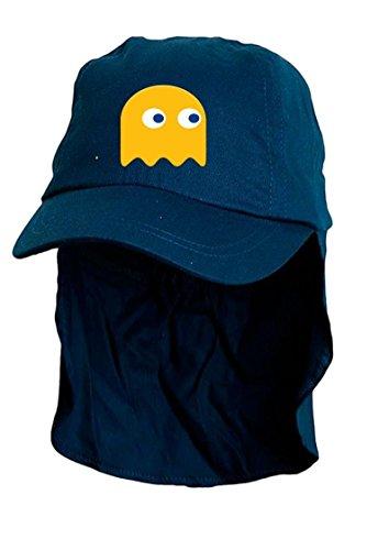Kids Bleu Pacman fantôme soleil Bonnet style Légionnaire. Taille unique.