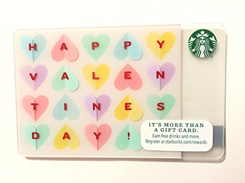 Starbucks 2015 Happy Valentines Day Gift Card No Value
