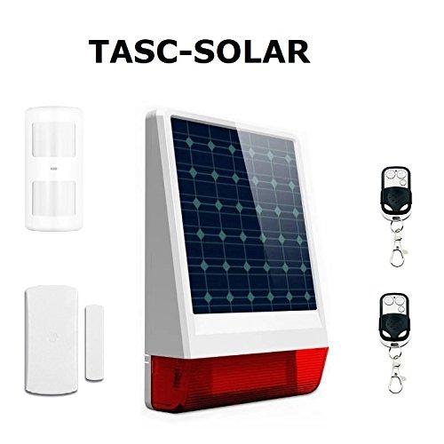 Alarma SIN cuotas SOLAR y GSM/SMS (con tarjeta SIM), funciona SIN corriente eléctrica