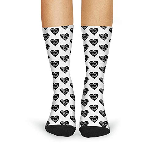 (Milr Gile Women's Addicted to reading heart Crew Tube Socks Crazy Novelty High Athletic)