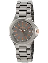 Invicta Womens 12540 Ceramics Grey Dial Gunmetal Ceramic Watch