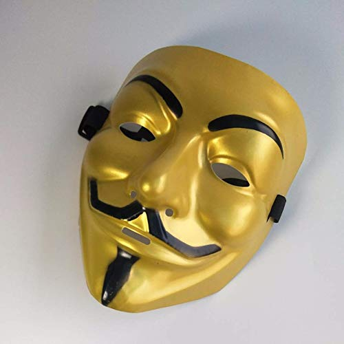 PVC mask Cosplay Full face Film Theme Vendetta mask Pirate Halloween Grimace Masks Supplies(A)