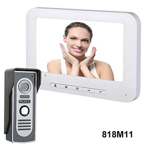 [해외]7inch Security Smart Visual Doorbell Night Vision Video Record Camera Intercom - 818M11 / 7inch Security Smart Visual Doorbell Night Vision Video Record Camera Intercom - 818M11
