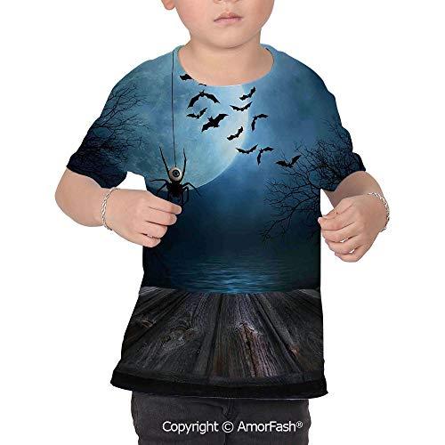 Halloween Decorations Distinctive Children's Premium Polyester T-Shirt,XS-2XL,Mi]()
