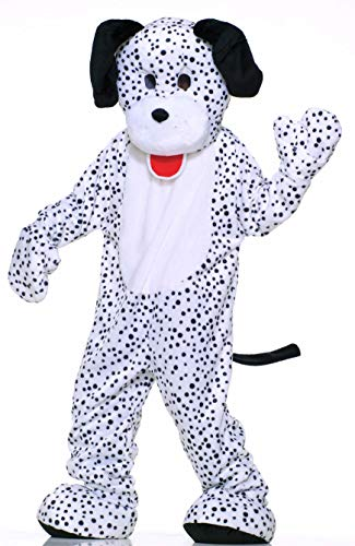 Puppy Costume For Adults (Forum Deluxe Plush Dog Mascot Dalmatian Costume, Black/White, One)
