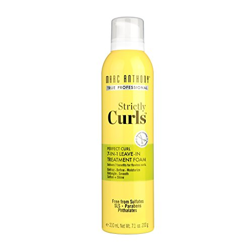 Marc Anthony Marc Anthony True Professional Strictly Curls Perfect Curl 7 In 1 Leave In Treatment Foam, 7.1 Oz, 7.1 Ounce