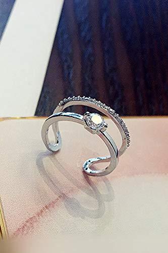 Ring Insert Micro Diamond Layer Opening (White Gold
