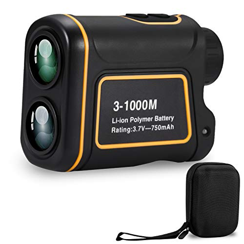 Deeteck Compact Laser Rangefinder for Golf,6X Rechargeable Golf Hunting Range Finder,1000 Yards Accurate Distance Finder with FMC Optics Clear View,Support Scan,Speed,Angle,Flag Lock,Vertical