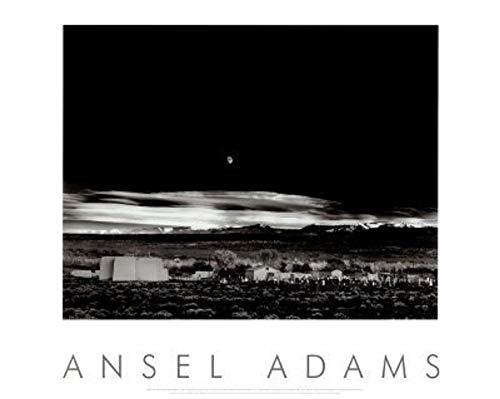 Laminated Moonrise, Hernandez, New Mexico, 1941 Art Poster Print by Ansel Adams 24x30