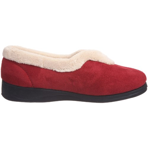 Padders Teal Fleece And Fur Lined Carmen, Chaussons femme Rouge (Rouge-v.7)