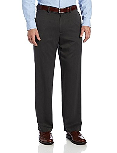 (IZOD Men's Performance Stretch Straight Fit Flat Front Chino Pant (Charcoal, 36W x)