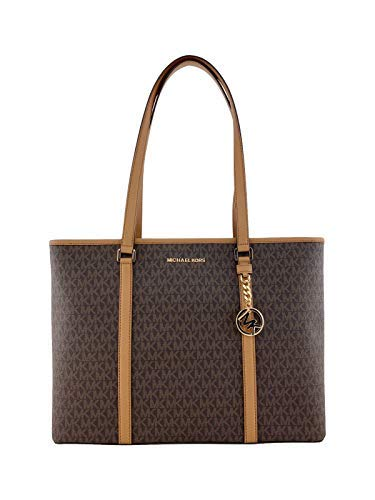 - Michael Kors Womens Sady Multifunction Top Zip Tote Bag Brown L