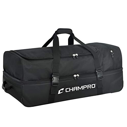 CHAMPRO Sports Catcher/Umpire Equipment Bag - 36' x 16' x 14', Black Catcher/Umpire Equipment Bag - 36' x 16' x 14', 36' L x 16' W x 14' H