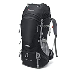 FeaturesCapacity:  1.An extension collar with drawstring on the top can expand the pack and increase the main compartment capacity by 5 liters 2.There are 2 hip-belt pockets, 2 lid pockets, 1 bladder sleeve, 1 front pocket, 1 rain cover (incl...