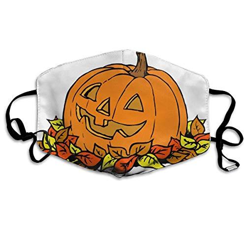 (Pumpkin Clipart Free Autumn Printed Mouth Masks Unisex Anti-dust Masks Reusable Face)
