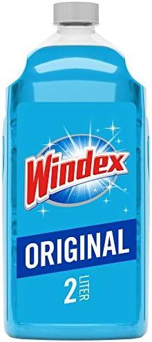 Windex Glass and Window Cleaner Refill, Original Blue, 67.6 Fl Oz